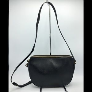 Banana Republic Black Leather Crossbody Bag
